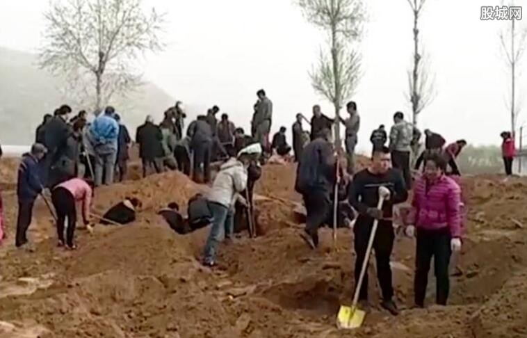 山西农民种树挖出银元